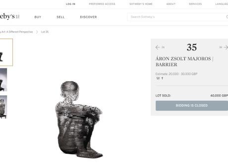 Majoros Áron rekordáron a Sotheby's aukcióján