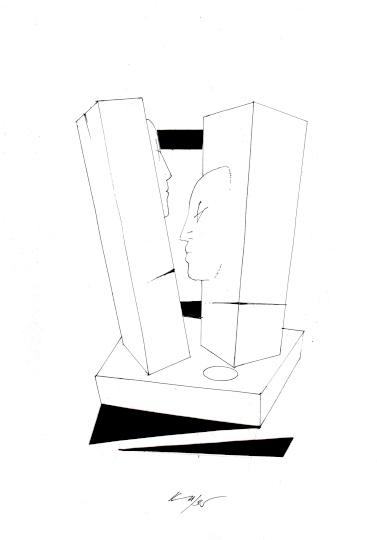A Koller Galéria gyűjteményéből: Kass János egyedi rajzai
