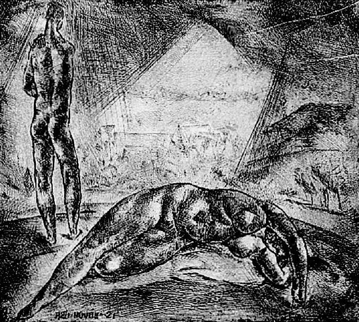 Aba Novák Vilmos: Ádám és Éva