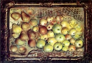Szkok, Iván: Still life with fruits