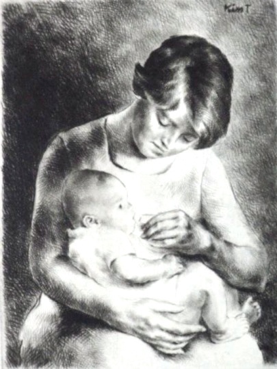 Kiss, Terézia: Mother with child
