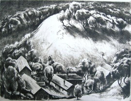 Kórusz József: Domb kontrafényben