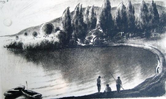 Kórusz, József: Bucht mit Anglern