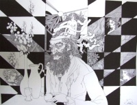 Szász Endre: Férfi az asztalnál