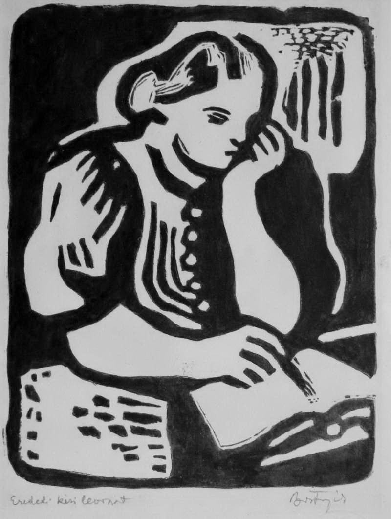 Bortnyik, Sándor: Reading woman