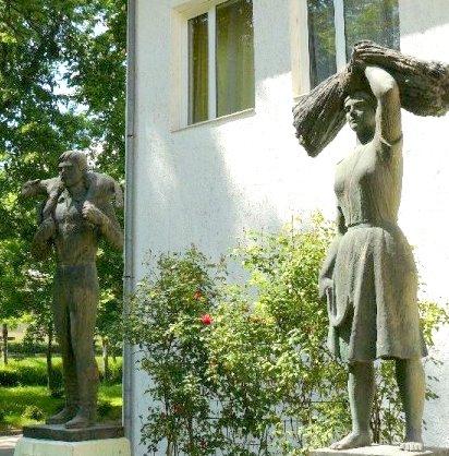 Pátzay Pál: Búzakévét tartó nő