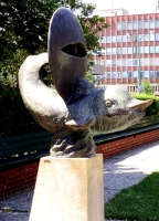 Borsos, Miklós: Fountain with delphine