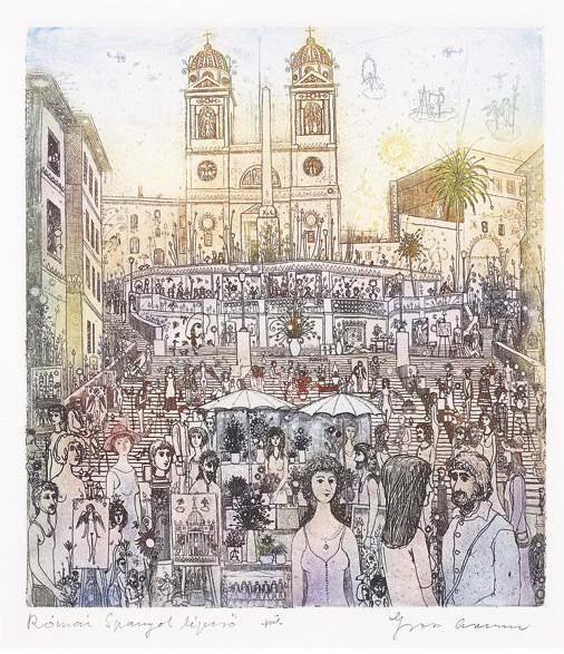 Gross Arnold: Római Spanyol lépcső
