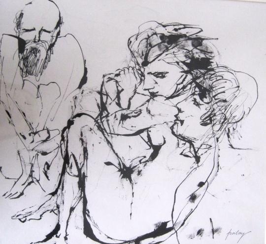 Szalay Lajos - egyedi rajzok: Lót és lányai