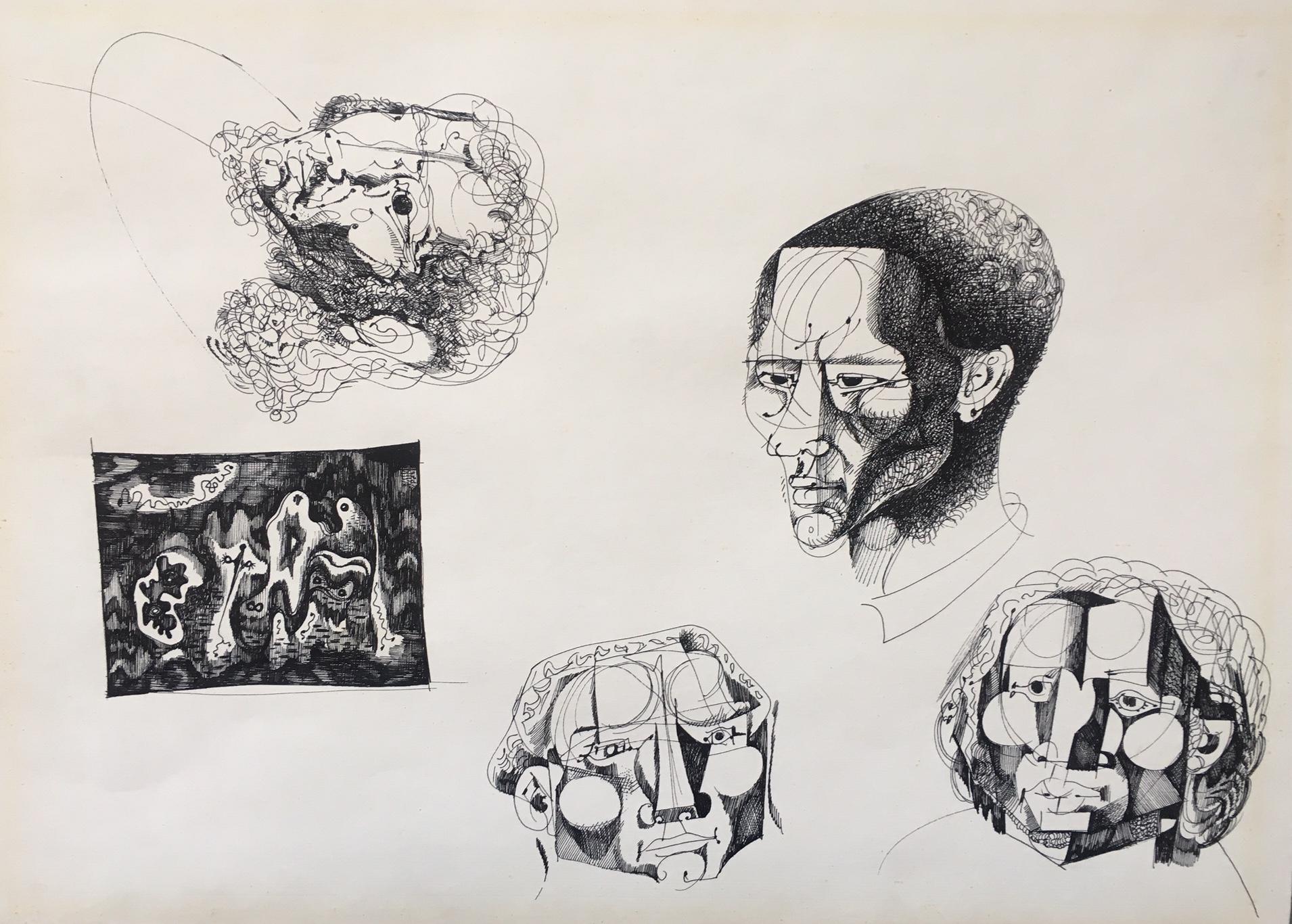 Hincz, Gyula - Kupferstiche: Zeichenstudien