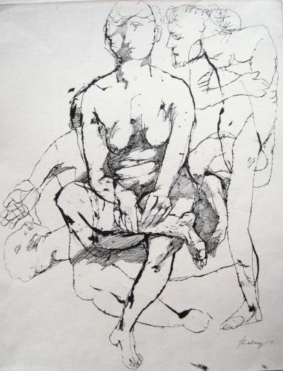 Szalay Lajos - egyedi rajzok: Aktok