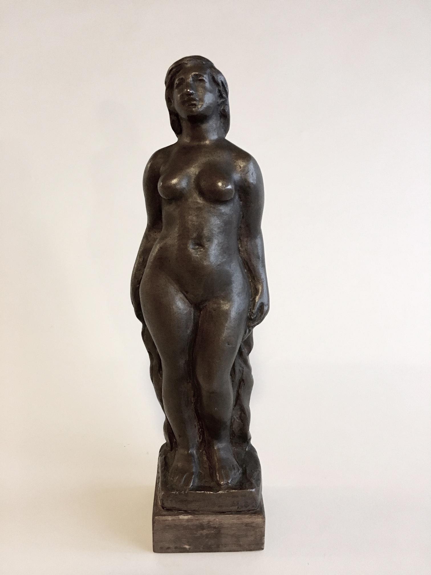Borsos, Miklós: Standing woman nude