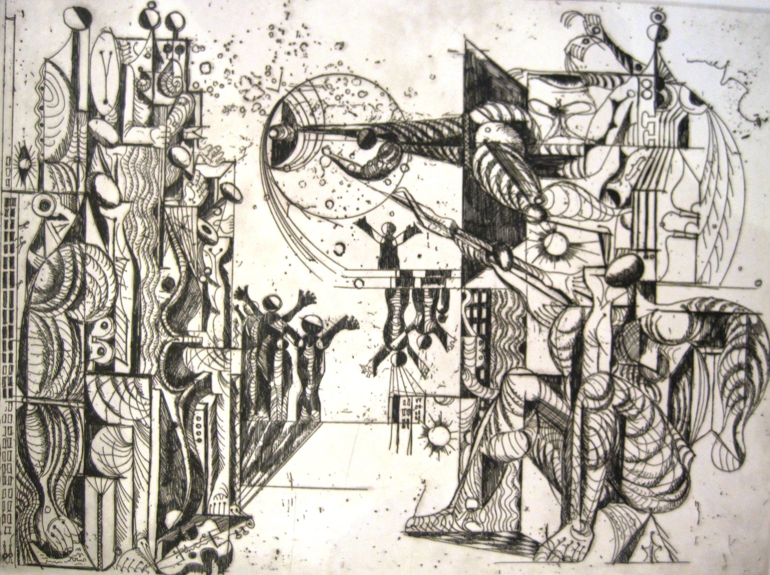 Hincz, Gyula - Kupferstiche: Komposition