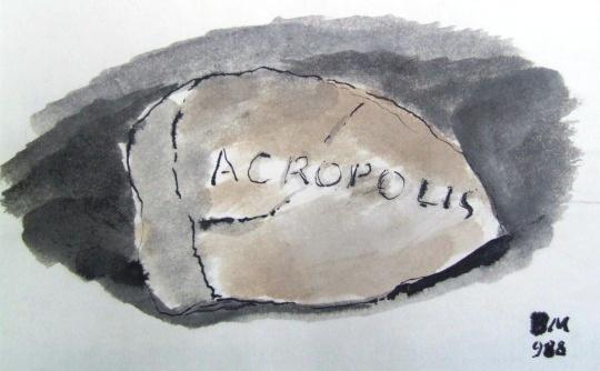 Borsos Miklós: Acropolis emlékére