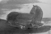 Borsos, Miklós- Skulpturen: Ruhendes Pferd