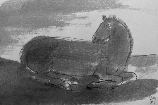 Borsos Miklós: Pihenő ló