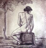 Kmetty, János: Female nude