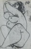 Amerigo Tot - grafikák: Női akt II.