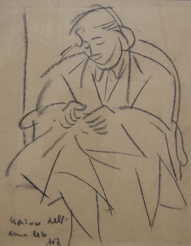 Amerigo Tot: Hölgy a székben
