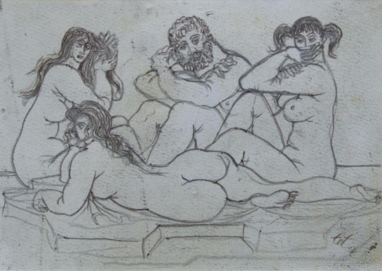 Amerigo Tot: Man with three graces