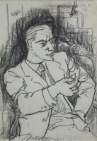 Amerigo Tot - grafikák: Férfi cigarettával