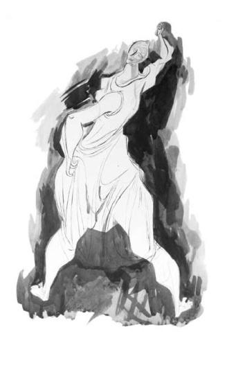Hincz, Gyula - unique artworks: Dancer I.