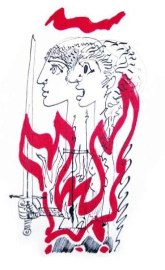 Hincz Gyula  - egyedi alkotások: Küzdelem