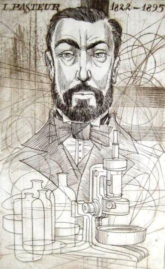 Kass, János: Doctor's portrait - Pasteur