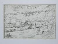 Kass, János: Landscape with horses