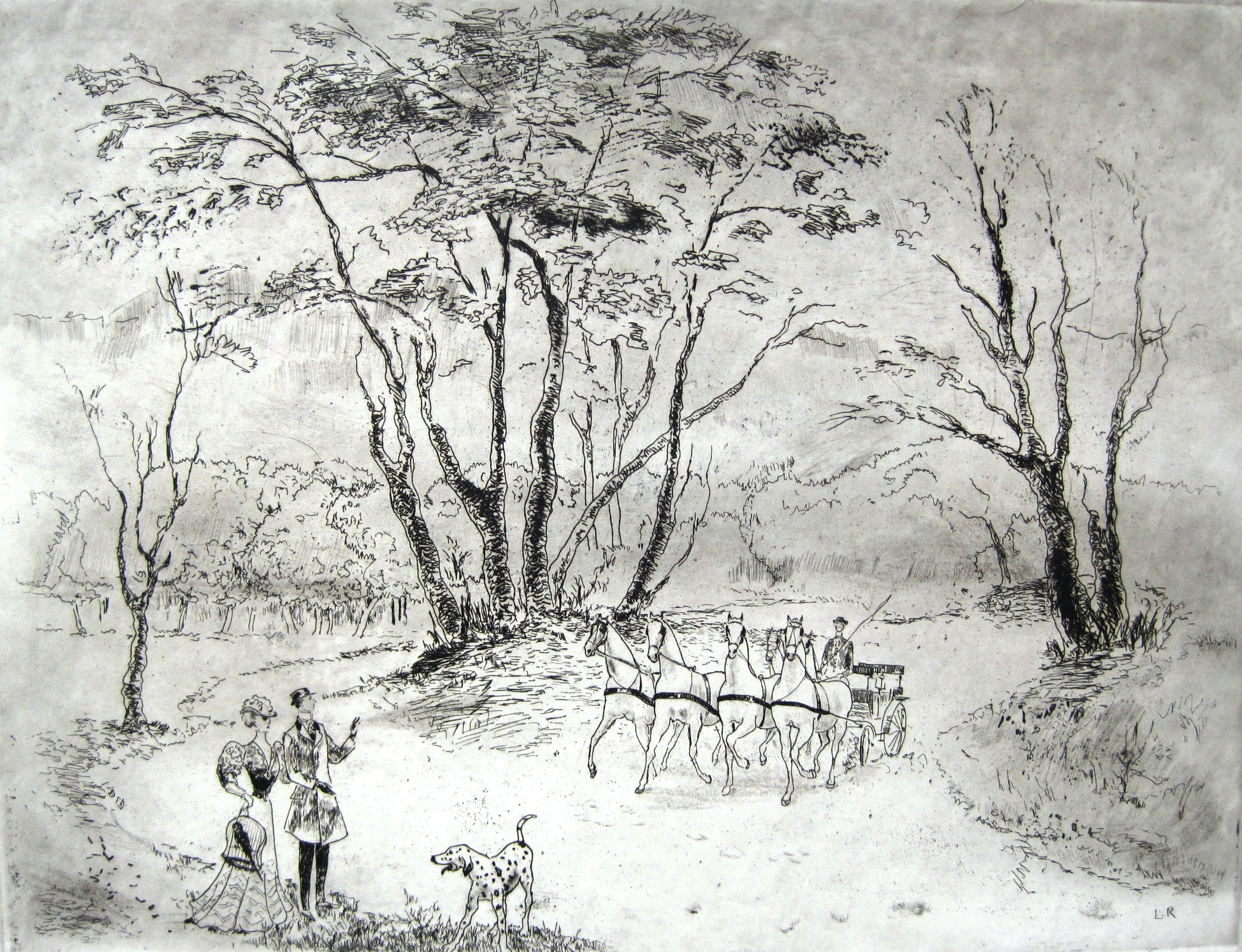 Láng, Rudolf: Six-horse carriage
