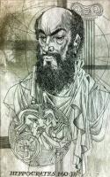 Kass, János: Doctor portraits  - Hippokrates