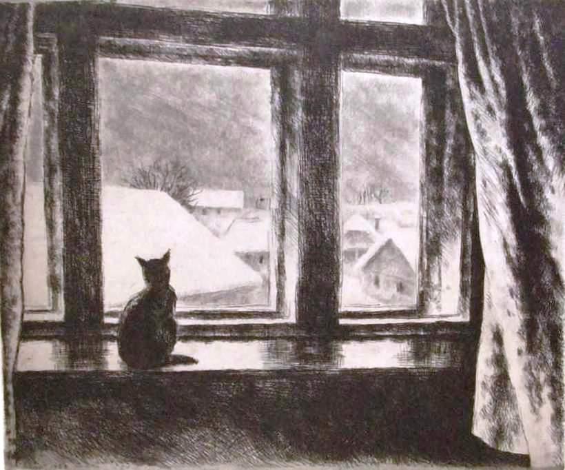 Szőnyi István: Macska az ablakban