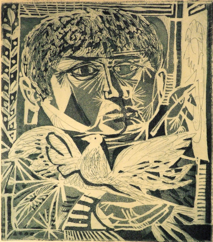 Kass János: Festő galambbal