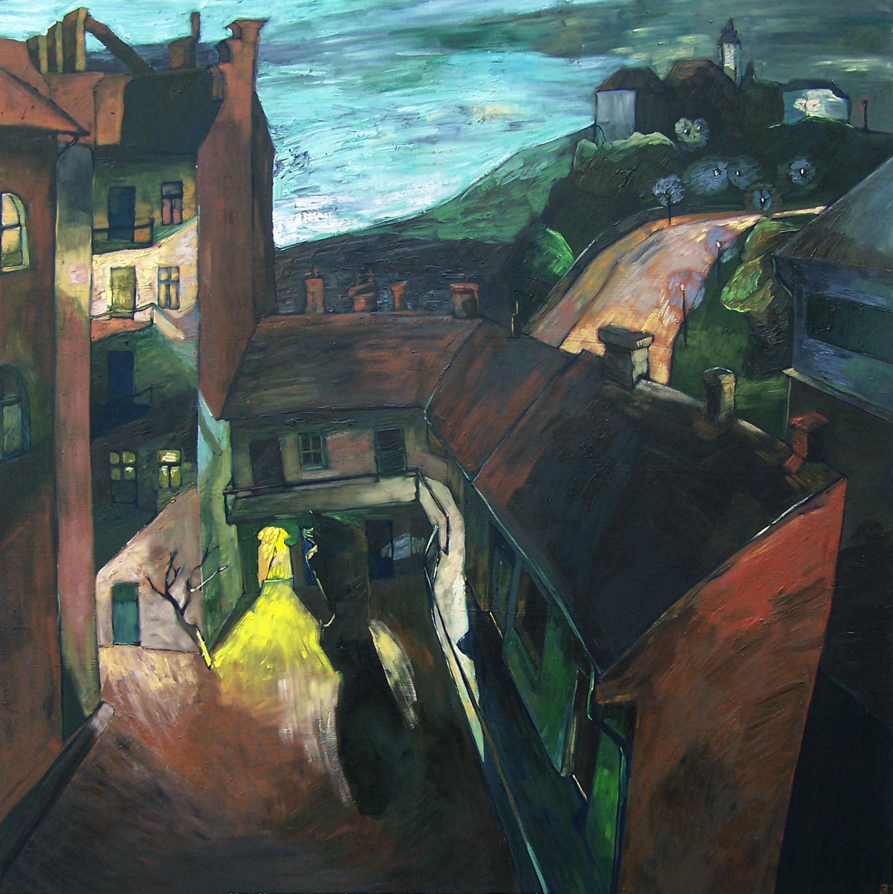 Papageorgiu Andrea: Ébredő város az éjszaka fényeiben
