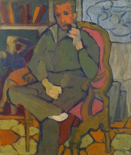 Fischer, Eva: Man with pipe