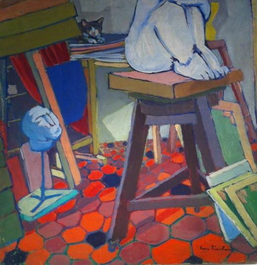 Fischer, Eva: In Amerigo Tot's studio II