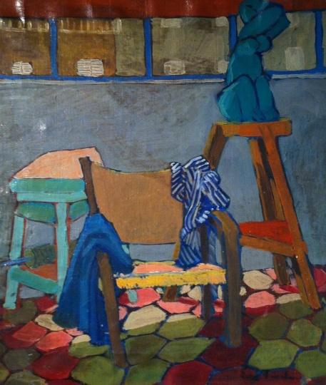 Fischer, Eva: In Amerigo Tot's studio (Somnambulist)