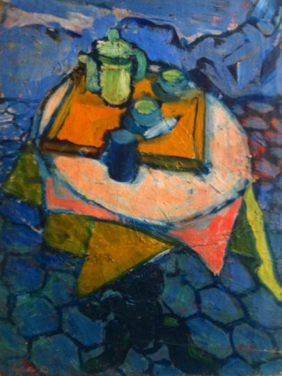 Fischer Éva: Csendélet a műteremben
