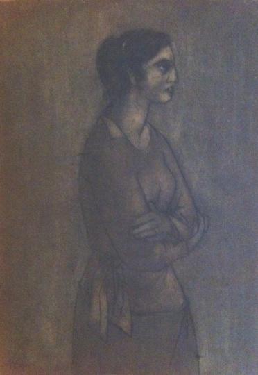 Amerigo Tot: Fischer Éva portréja