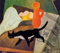 Berény Robert: Fekete macska