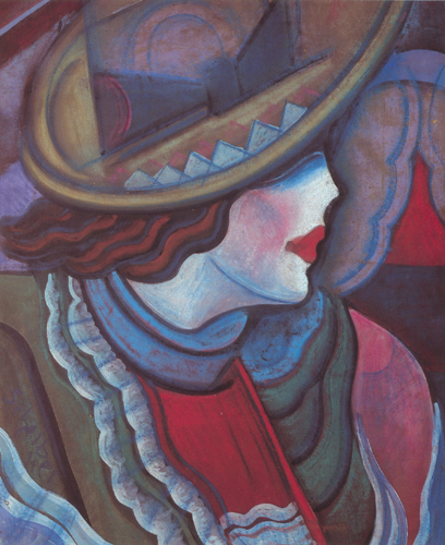 Scheiber, Hugo: Lady with hat