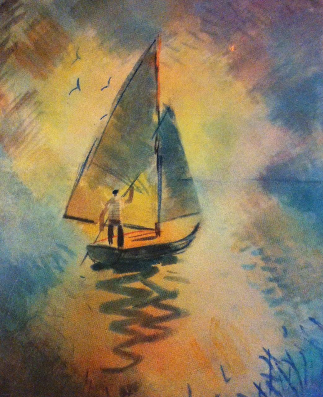 Csebi-Pogány, István: Sailing on the Lake Balaton