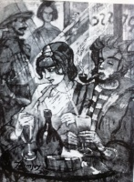 Remsey, Jenő György: Sailor's pub in Marseille