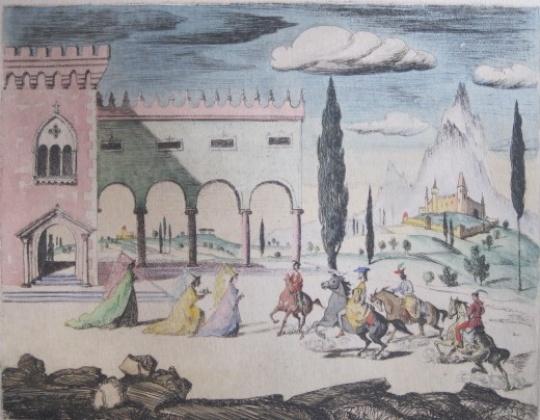 Molnár C. Pál: Középkori udvari jelenet
