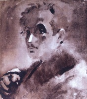 Csebi-Pogány, István: Self-portrait with glove