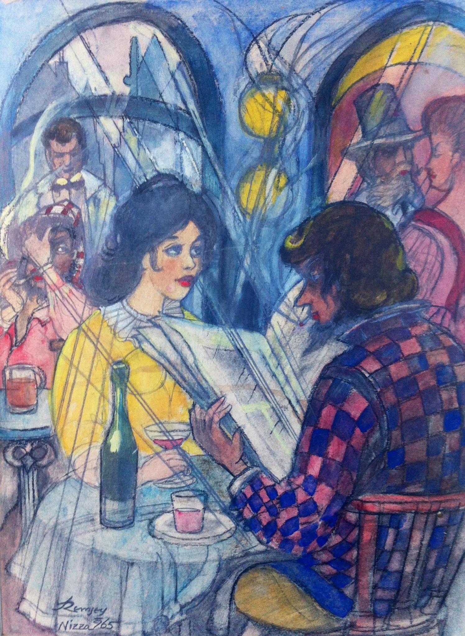 Remsey Jenő György: Kávézó Nizzában