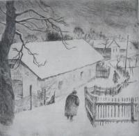 Szőnyi, István: Snowy street
