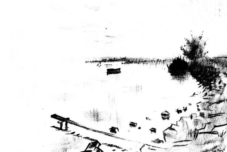 Csebi-Pogány, István: Morning at Lake Balaton