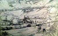 Kass, János: Landscape with horse