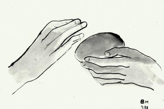 Borsos, Miklós: Protective hands